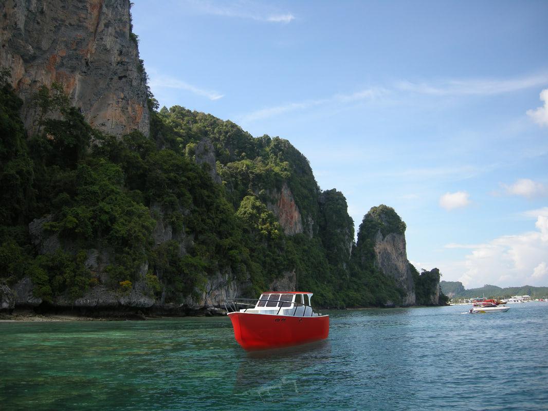 3d fishing boat model