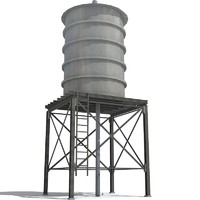 3d model of roof water tower