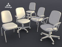 3d conference chair concept - model