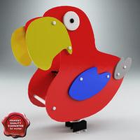spring swing parrot 3d model