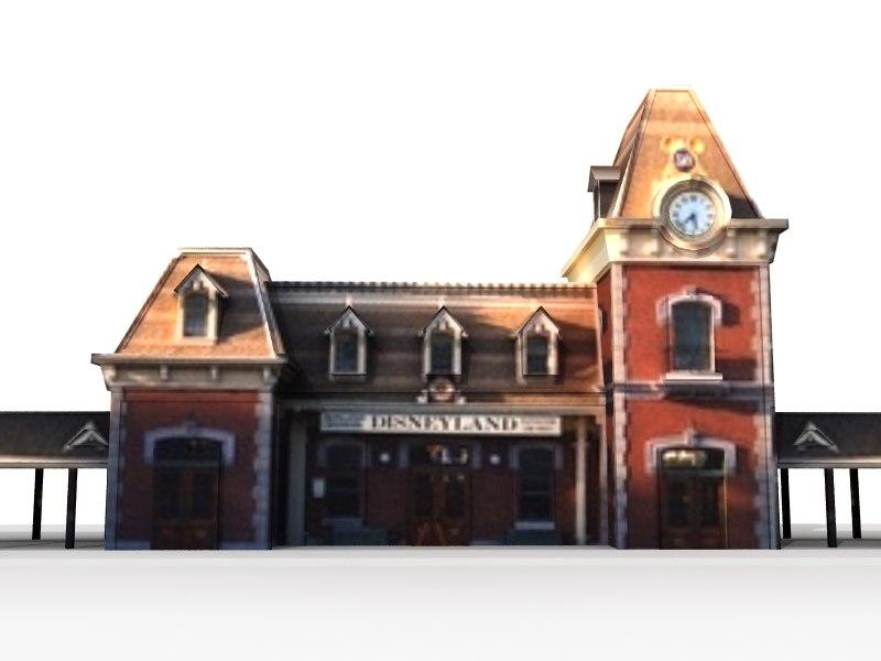 main street train station 3d lwo