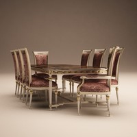 dining table classic 3d model