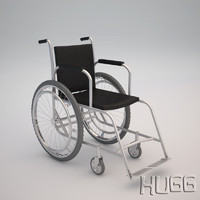 3d wheelchair chair wheel model