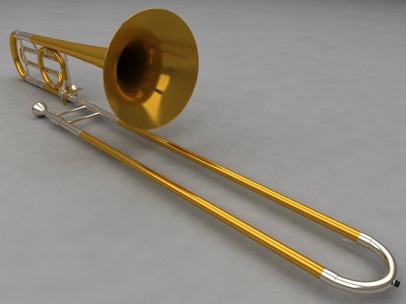 3d trombone brass