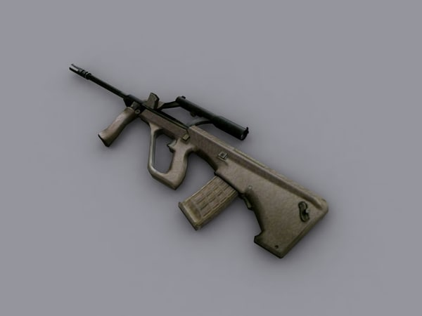 3d steyr aug assault rifle
