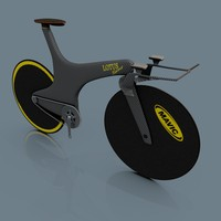 olympic individual pursuit bicycle 3d model