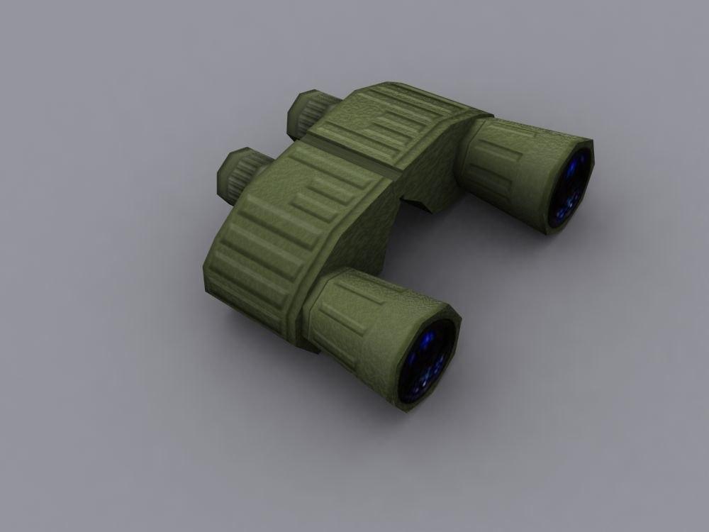 3ds max binoculars weapon