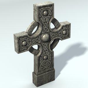 celtic gravestone 3d model