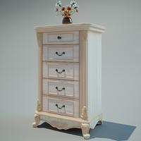 interior chest drawer 3d model
