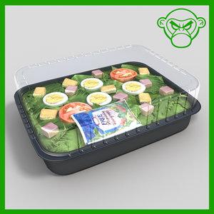 chef s salad 3d 3ds