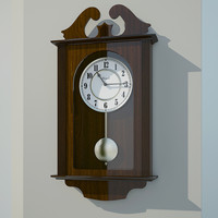 wall clock 3d obj