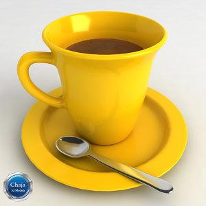 3d cup coffe coffee model