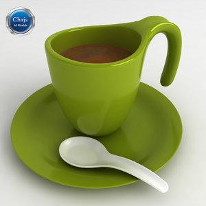 3d model cup coffe coffee