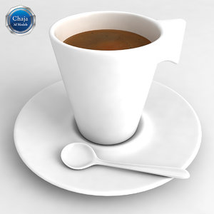 3d cup coffe coffee