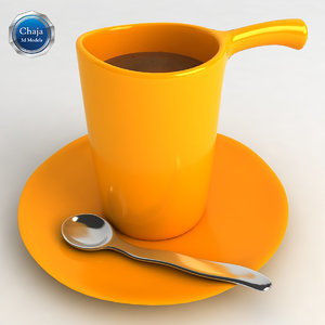 3ds max cup coffe coffee