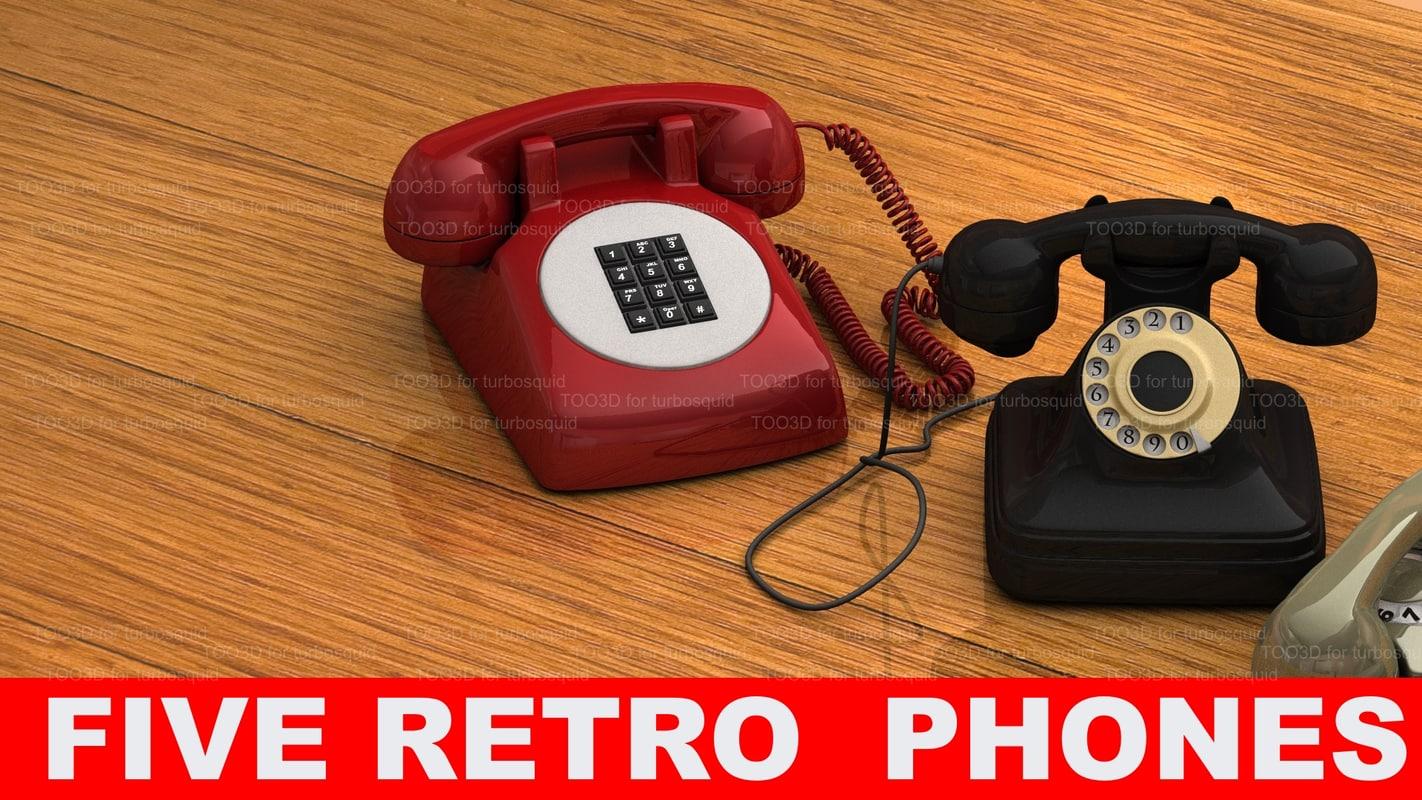 3d model 5 phones