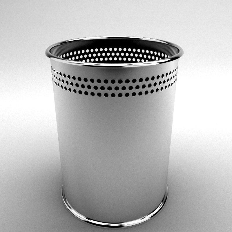 trash bin materials 3d model
