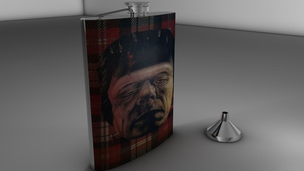 3ds max hip flask