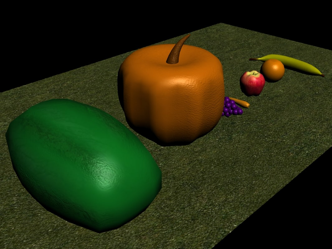 3d model vegetables fruit