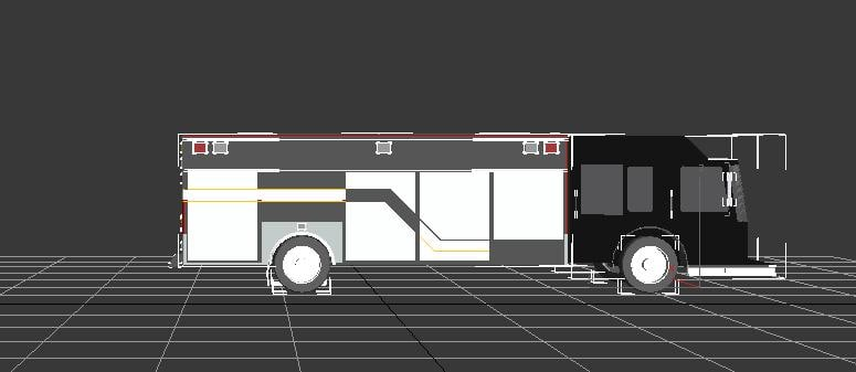 3d model rescue truck
