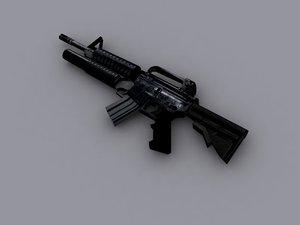m4 assault rifle 3d 3ds