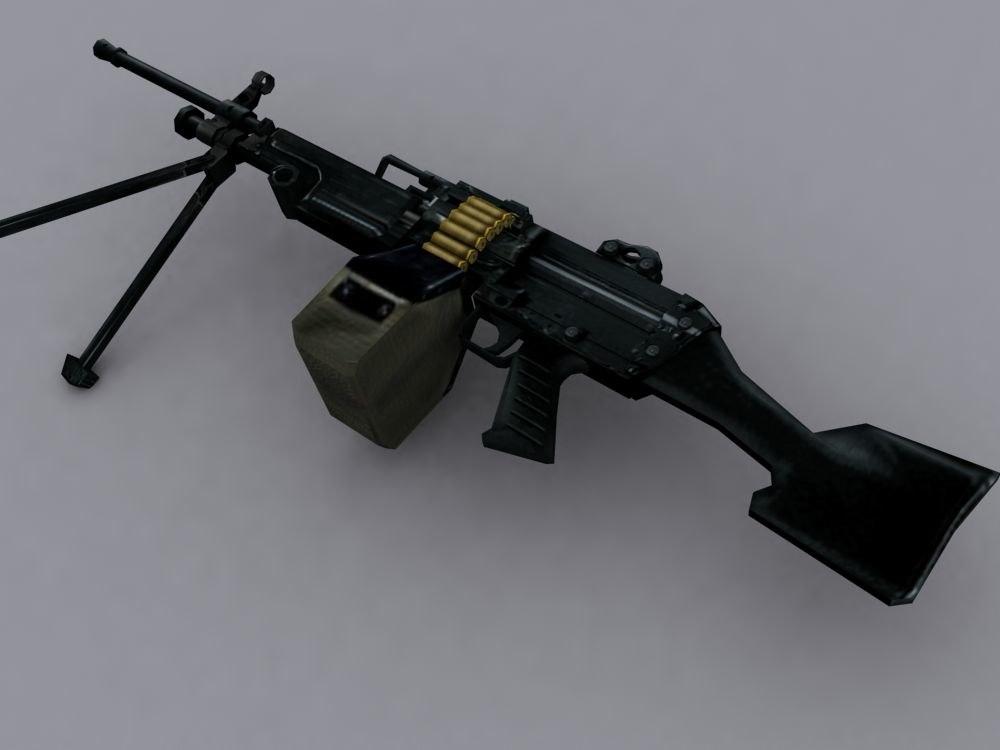 3d machinegun m249