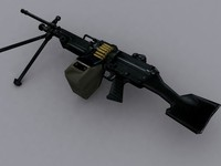 3d machinegun m249
