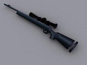 3d model of m24 sniper rifle