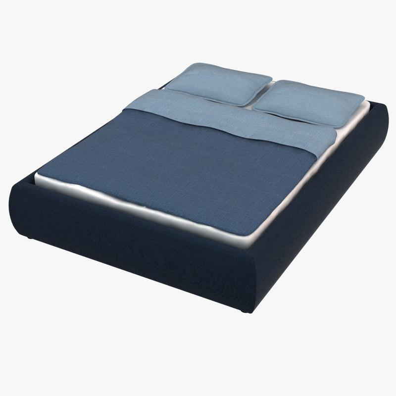 3d model bed ikea grimen