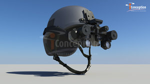 3d model night vision goggles helmet