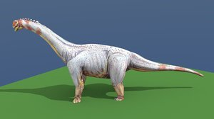 3d max paralititan dinosaur