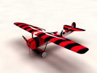 3d model of fokker d1
