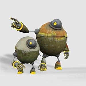robot sidekick 3d 3ds