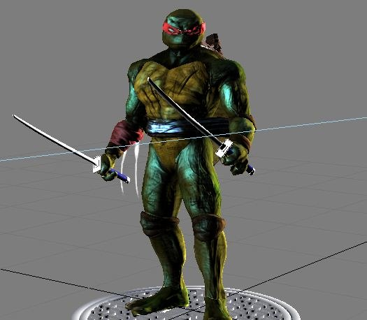 dark teenage mutant ninja turtle 3d max