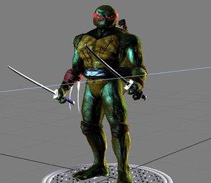 dark teenage mutant ninja turtle 3d max