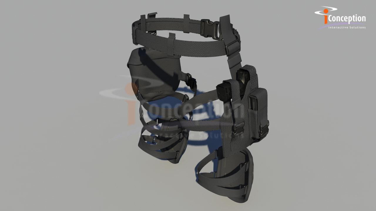 soldier gear 3d model