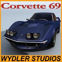 3dsmax chevrolet corvette 69