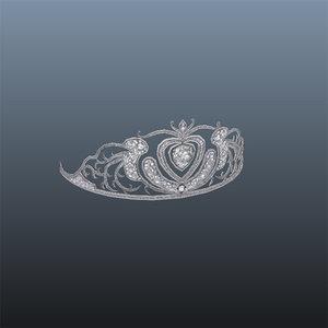 3d model tiara crown