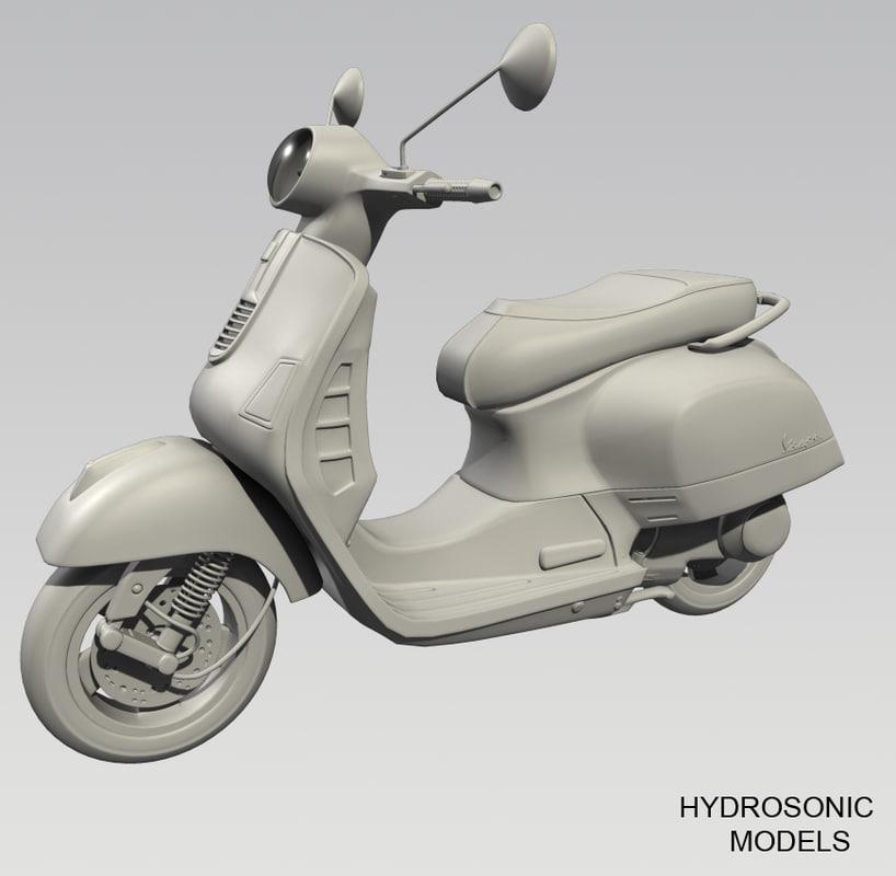 obj vespa scooter