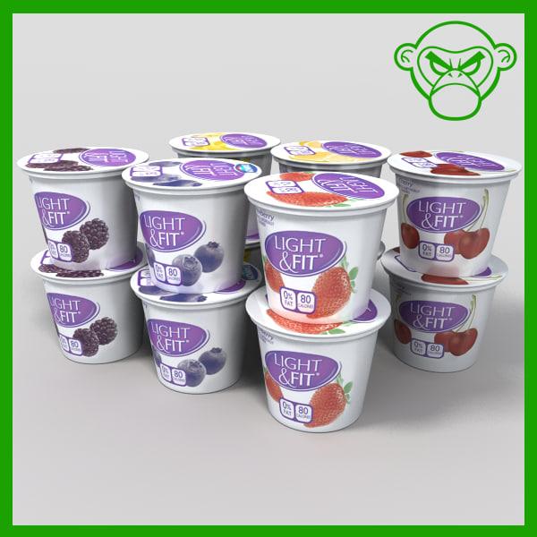3dsmax yogurt containers