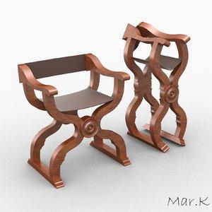 3d scissors chair model