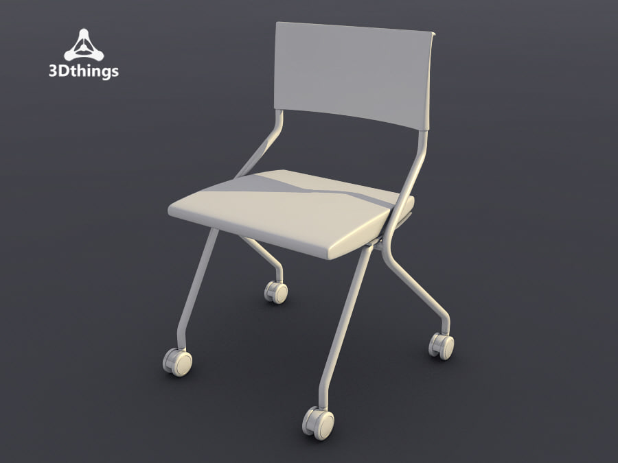 3ds max conference chair flip flap