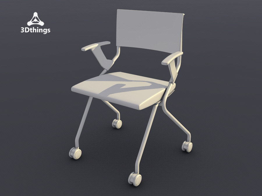 3d conference chair flip flap model