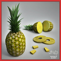 realistic pineapple 3d 3ds