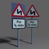 3d road sign coz100710042 model