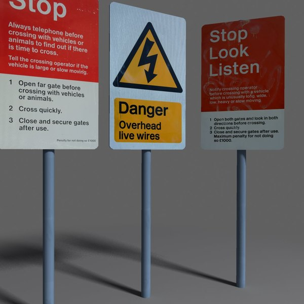road sign coz101019774 3d model