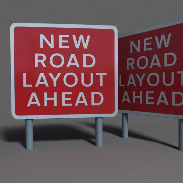 road sign coz110101398 3d max