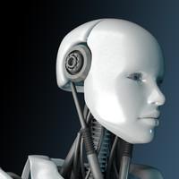 robot bot female 3d model