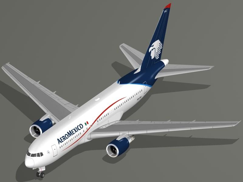 boeing 767-200 er aeromexico 3d 3ds