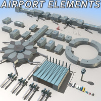3ds max airport elements module
